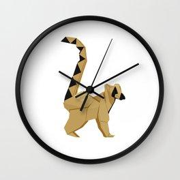 Origami Lemur Wall Clock