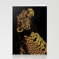 jaguar Stationery Cards featuring Jaguar by Die Farbenfluesterin