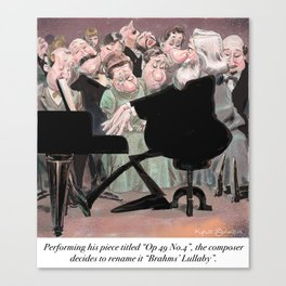Brahms' Lullaby Canvas Print
