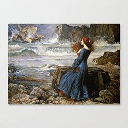John William Waterhouse - Miranda - The tempest Canvas Print