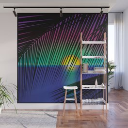 Green Sunset Wall Mural