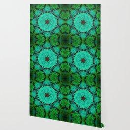 Green & Mint Mandala Wallpaper
