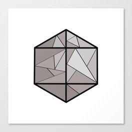 Graphic . 3 geometric shape gray Canvas Print