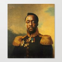 replaceface Canvas Prints featuring will.i.am - replaceface by replaceface