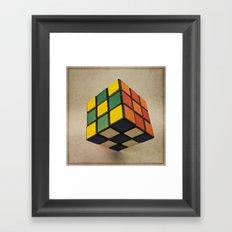 Cube of Rube Framed Art Print