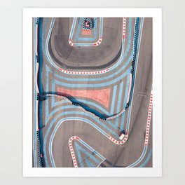 Colors and lines Art Print