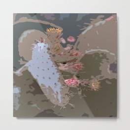 Prickling Pear Abstract Metal Print