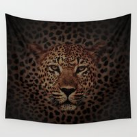 daenerys targaryen Wall Tapestries featuring LEOPARD KING by alexa