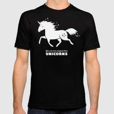 Unicorn Mens Fitted Tee MEDIUM Black