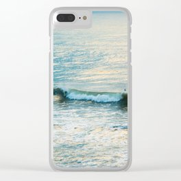 Winter Surfing II Clear iPhone Case