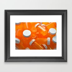 Pill Bottles Framed Art Print
