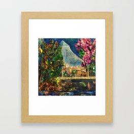 Lilac City 3: Pavilion, Riverfront Park Framed Art Print