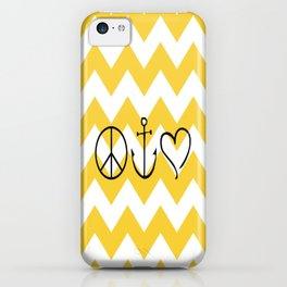 Peace Hope Love Chevron iPhone Case