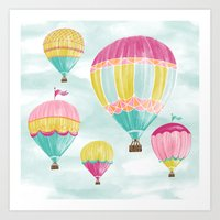 hot air balloons Art Prints featuring Hot Air Balloons by Jill Byers