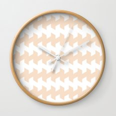 jaggered and staggered in linen Wall Clock