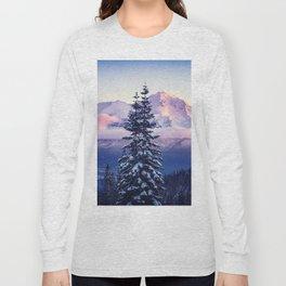 Glorious Beginning sunrise on Mount Shasta Long Sleeve T-shirt