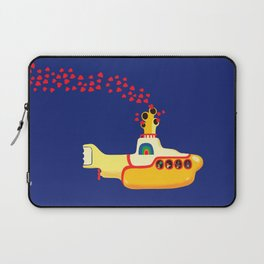 Yellow Submarine Bubbling Love Laptop Sleeve