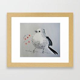 Long-tailed tit (stjärtmes) Framed Art Print