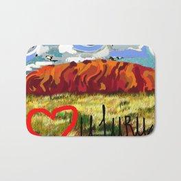 I love Uluru Bath Mat