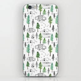 Camping and Trees iPhone Skin