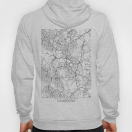 Canberra Map White Hoody