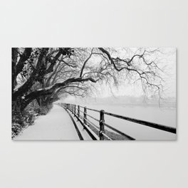 Snow in Fulham Canvas Print