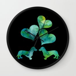 Dachshunds Art Wall Clock