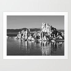 Tufa Reflections at Mono Lake Art Print