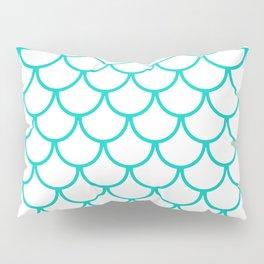 Aqua Blue Fish Scales Pattern Pillow Sham
