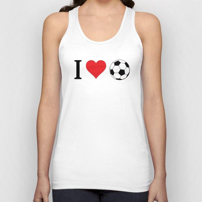 I Love Soccer Unisex Tanktop