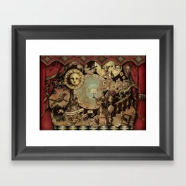 The mediaeval theater Framed Art Print