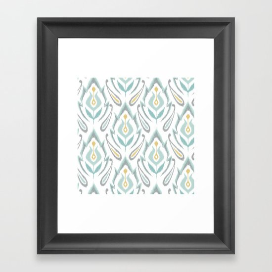 Soft Ikat Framed Art Print