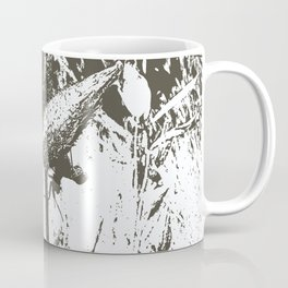 Milkweed Plant in Black and White Coffee Mug