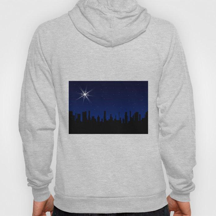 Christmas Star Over A City Hoody