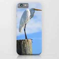 Perching White Egret Slim Case iPhone 6s