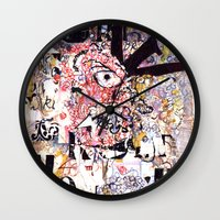 vonnegut Wall Clocks featuring Kurt Vonnegut Portrait by Karl Frey