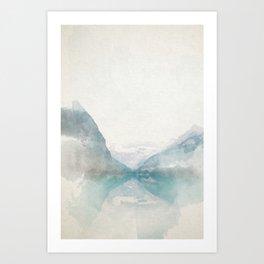 Lake Louise Mountain Watercolor Art Print