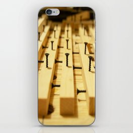 Wood and Screws iPhone Skin