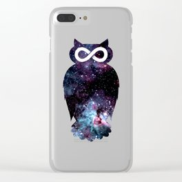 Super Cosmic Owlfinity Clear iPhone Case