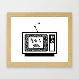 READ A BOOK Framed Art Print
