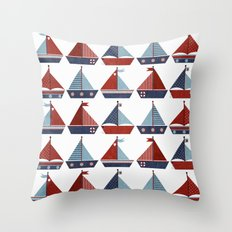 My Little Sail Boat. Throw Pillow