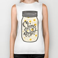 fireflies Biker Tanks featuring Fireflies by Landon Sheely