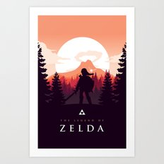 The Legend of Zelda - Orange Version Art Print