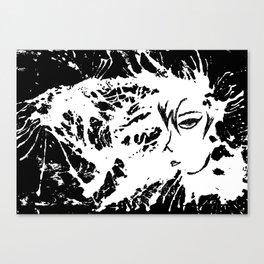 Sensitive look Canvas Print