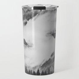 Misty Mountain II B&W Travel Mug