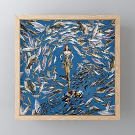 Mermaid in Monaco Framed Mini Art Print