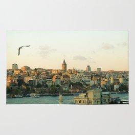 Istanbul Cityscape Photo Rug