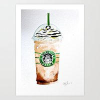 Basic with a Straw Art Print