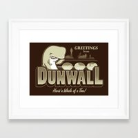 dishonored Framed Art Prints featuring Greetings from Dunwall by adho1982