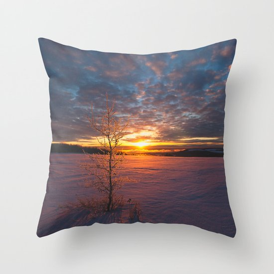Outer Glow Landscape Throw Pillow